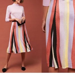 Anthropologie Laia shimmer striped skirt small new